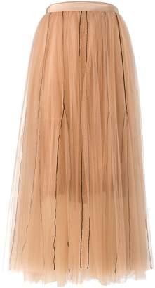 Schumacher Dorothee Sensitive Transparency Layered Skirt in Muted Hazelnut