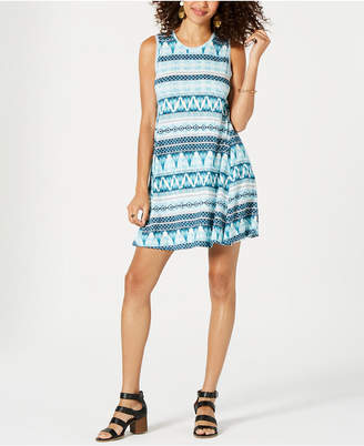 Style&Co. Style & Co Petite Sleeveless Printed Dress