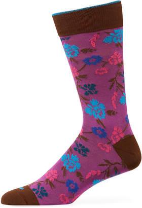 Duchamp Men's Floral Cotton Socks