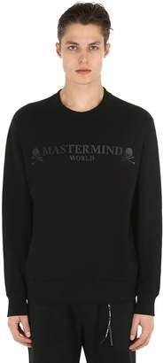Logo Rubber Print Cotton Sweatshirt