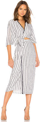 The Jetset Diaries Aries Stripe Shirt Dress