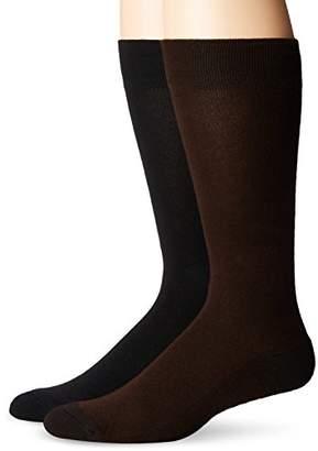 Dr. Scholl's Men's Ultra Comfort Dress Casual Crew Trouser 2 Pack Sock