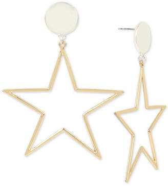BCBGeneration Bcbg Two-Tone Star Drop Earrings