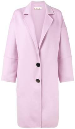 Marni Pink Belted alpaca coat