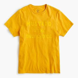 "J.Crew ""Mustard is the only choice"" graphic T-shirt"
