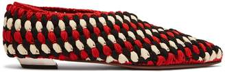 Cindy Macrame Point Toe Flats - Womens - Red Multi