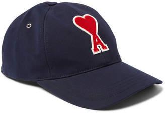 Ami Appliquéd Cotton-Twill Baseball Cap