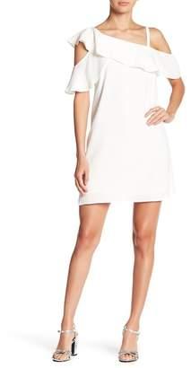 Rachel Roy Asymmetric Ruffle Dress