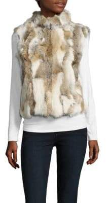 La Fiorentina Dyed Rabbit Fur Vest