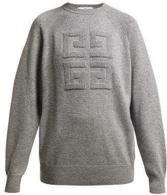 Givenchy Cashmere Crew Neck Sweater - Womens - Grey