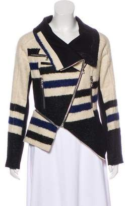 Yigal Azrouel Asymmetrical Striped Jacket