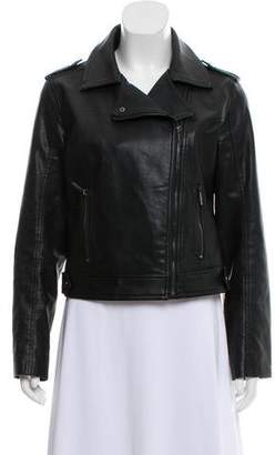 Calvin Klein Collection Vegan Leather Moto Jacket