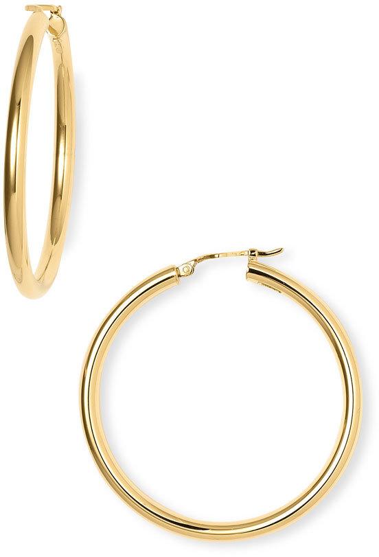 Charles Garnier 18Karat Gold 40mm Large Hoop Earrings