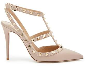 Valentino Rockstud Leather Pumps - Womens - Nude