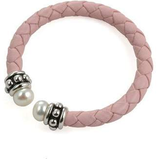 Honora Girl's Cultured Freshwater Pearl Pink Cuff Bracelet