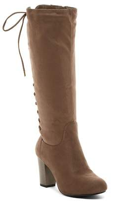 Top Moda Sophie Corset Lace-Up Tall Boot