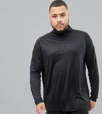 Canterbury of New Zealand Plus Vapodri Half Zip In Black Exclusive To ASOS