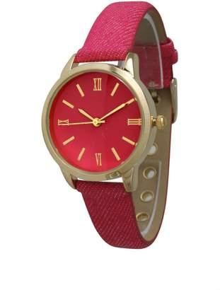 Olivia Pratt Petite Denim Watch