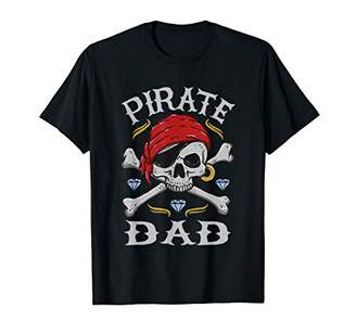 Halloween Scary Pirates Skull & Crossbones Father Pirate Dad T-Shirt