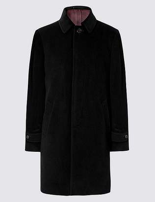 Marks and Spencer Wool Rich Coat with Cashmere