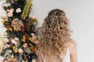 Carlisle Debbie Silver And Freshwater Pearl Veil Style Hair Vine Elise