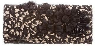 Oscar de la Renta Embellished Lace Clutch