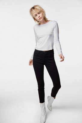 J Brand Alana High-Rise Cropped Super Skinny In Photo Ready Black Bastille
