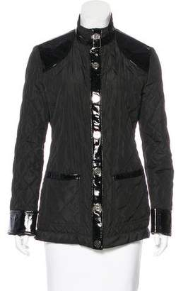 Tory Burch Leather-Accented Quilted Coat