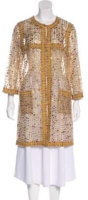 Chanel Embellished Mesh Coat