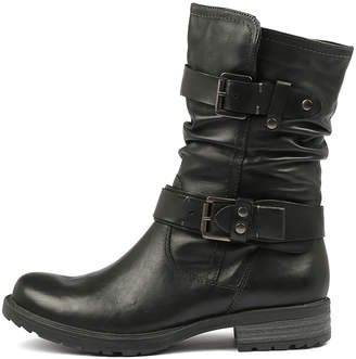 Earth Everwood Black Boots Womens Shoes Calf Boots
