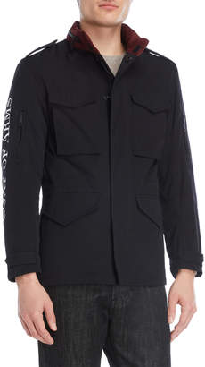 Coat Of Arms Black Four-Pocket Jacket