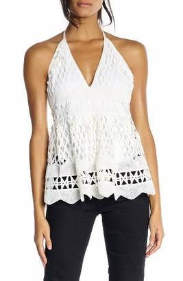 Women's Kendall + Kylie Crochet Halter Top $250 thestylecure.com