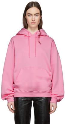 MSGM Pink Logo Hoodie