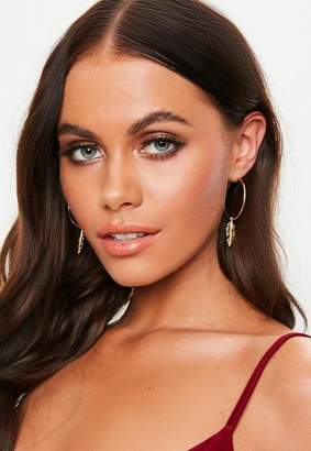 Missguided Gold 3 Pack Charm Hoops