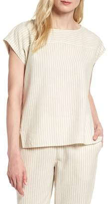 Eileen Fisher Stripe Hemp & Organic Cotton Swing Top