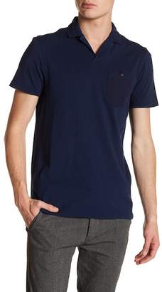Ted Baker Laundered Short Sleeve Patch Pocket Polo