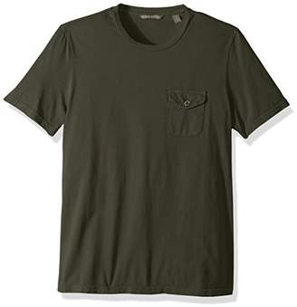 Michael Bastian Men's Signature Garment Dyed pima Cotton Jersey Pocket tee
