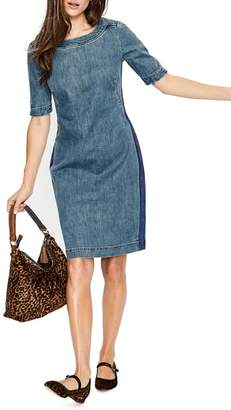Boden Rhea Denim Contrast Dress