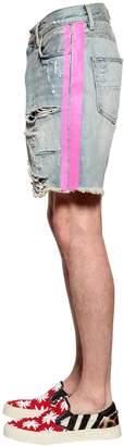 Amiri Thrasher Cotton Denim Shorts
