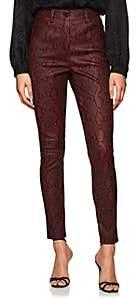 A.L.C. Women's Snake-Print Lambskin Skinny Jeans - Red