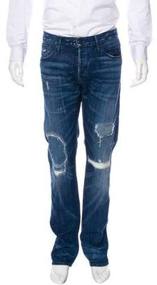 3x1 Distressed Repaired Skinny Jeans