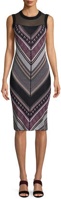 Rachel Roy Lurex Chevron Sweater Dress