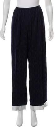 Dries Van Noten Patterned High-Rise Pants