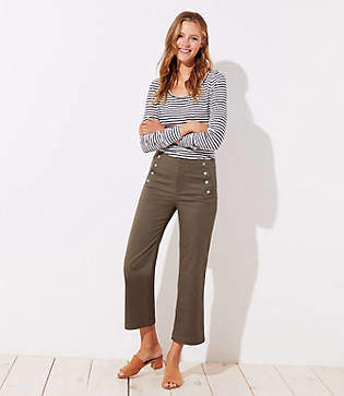 LOFT Sailor Wide Leg Crop Pants