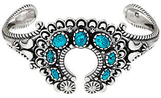 American West Kingman Spiderweb Turquoise Naja Cuff by American West