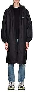 Balenciaga Men's Logo Raincoat-Black