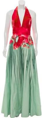 Elie Saab Printed Halter Gown w/ Tags