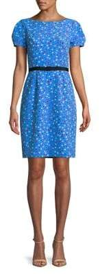 Isaac Mizrahi IMNYC Dotted Bow-Belt Sheath Dress