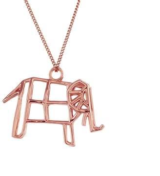 Origami Jewellery Frame Elephant Necklace Rose Gold