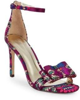 Joie Akane Floral Ankle Strap High-Heel Sandals